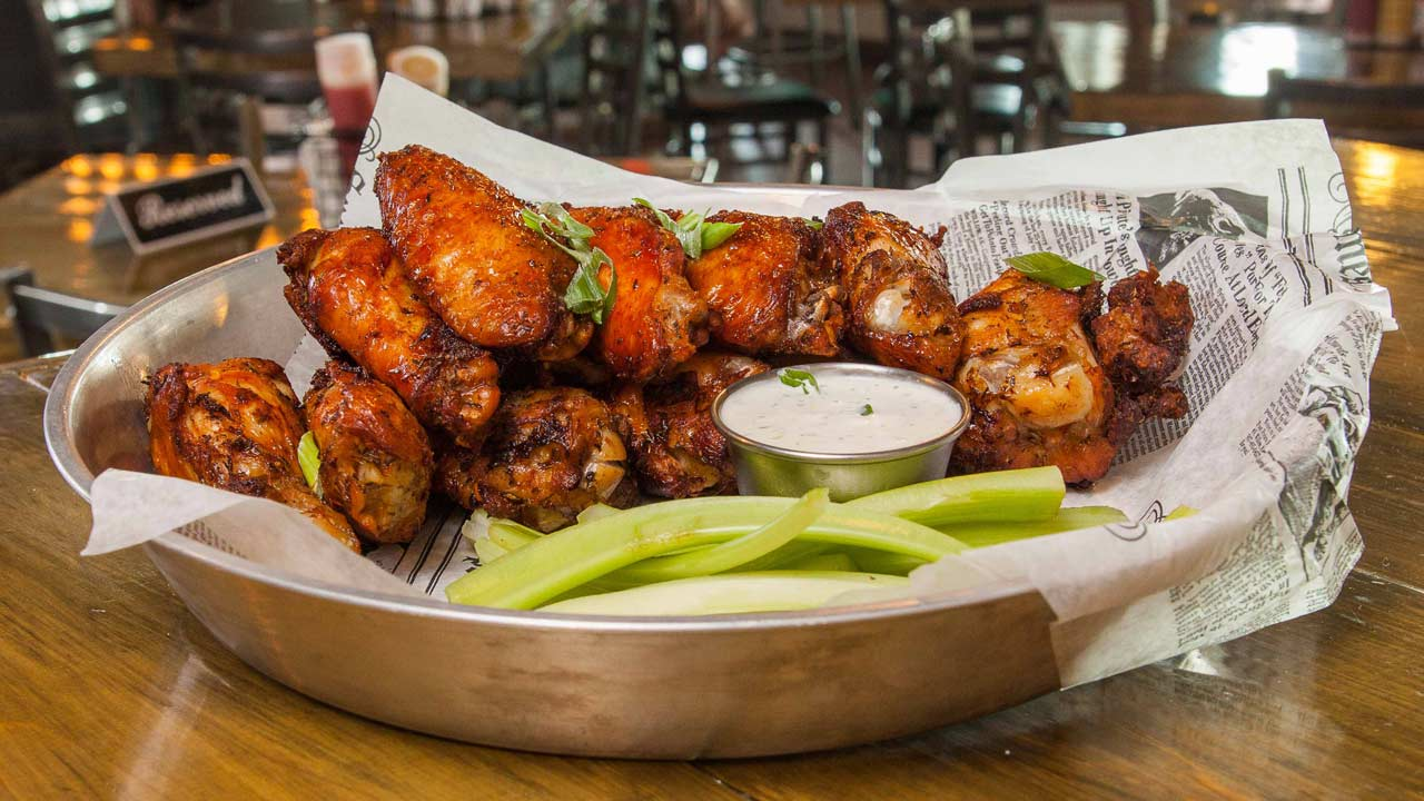 6 or 12 wings with your choice of House made sauces.